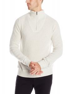 Williams Cashmere Men's Thermal Half-Zip Sweater