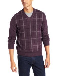 Dockers Men's Comfort Touch Gaberdine Plaid Long-Sleeve Sweater