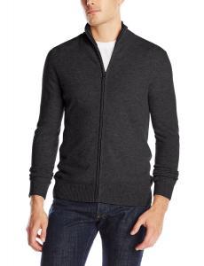 Christopher Fischer Men's Cashmere 1/2 Mock Neck Full Zip Sweater