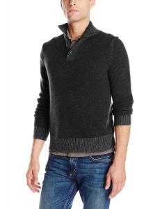 Williams Cashmere Men's Plated Button Mock Pullover