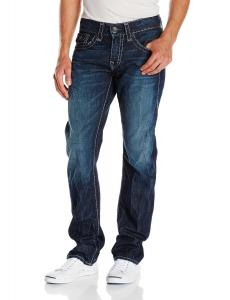 True Religion Men's Ricky Super T Relaxed Straight Fit Jean In Cascade Creek