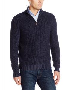 Dockers Men's Shaker Stitch Quarter-Zip Sweater