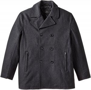 London Fog Men's Tall Houston Peacoat and Quilted Lining