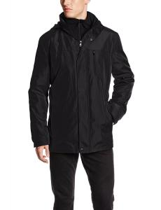 Calvin Klein Men's Hooded Jacket with Bib