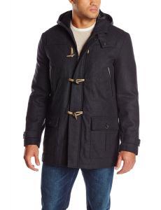 Nautica Men's Tall Hooded Toggle Coat