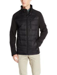 Calvin Klein Men's Hybrid Puffer and Softshell Jacket