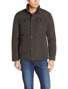 Perry Ellis Men's Tall Quilted Four Pocket Jacket