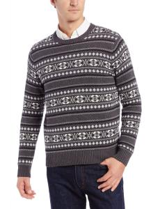 Dockers Men's Cotton Multi Fairisle Ugly Christmas Sweater