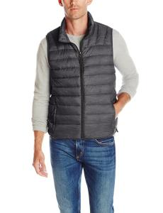 Hawke & Co Men's Big-Tall Heathered Lightweight Down Packable Puffer Vest