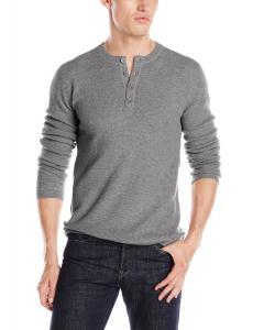 Christopher Fischer Men's Cashmere Thermal Henley Sweater