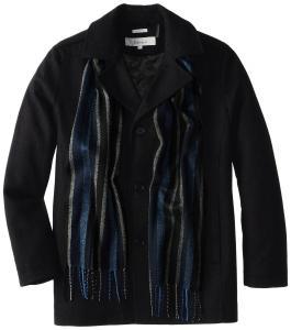 Perry Ellis Men's Big Scarf Coat