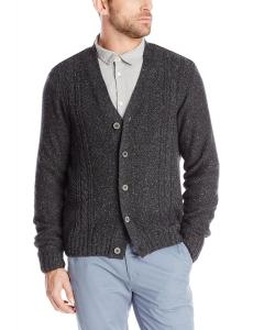 Dockers Men's Button-Down Cable-Knit Cardigan