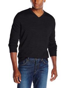 IZOD Men's Long Sleeve V-Neck Road Trip Merino Sweater
