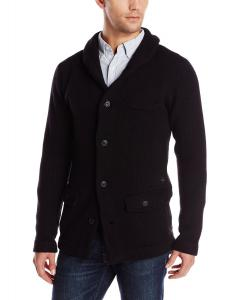 G-Star Raw Men's Portaged Knit Cardigan In Oxford Knit Black