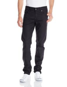 True Religion Men's Geno with Flap Black Coated In Iron Ore