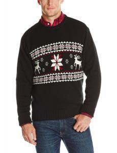 Dockers Men's Reindeer and Snowflake Crew Sweater