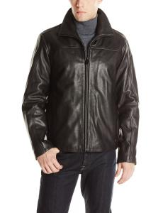 Calvin Klein Men's Leather Open Bottom Jacket
