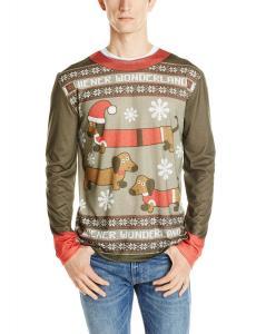 Faux Real Men's Weiner Wonderland Ugly Christmas Sweater Printed Tee