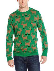 Alex Stevens Men's Reindeer Herd Ugly Christmas Sweater
