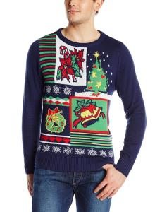 Hybrid Men's Squared Off Ugly Christmas Sweater