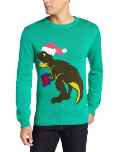 Alex Stevens Men's Santasaurus Rex Ugly Christmas Sweater