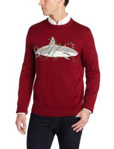 Alex Stevens Men's Sharky Ugly Christmas Sweater