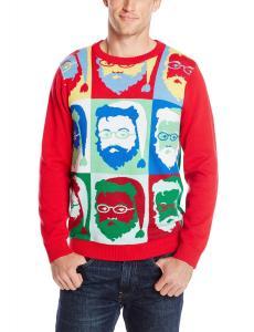 Alex Stevens Men's Pop Color Santa Ugly Christmas Sweater