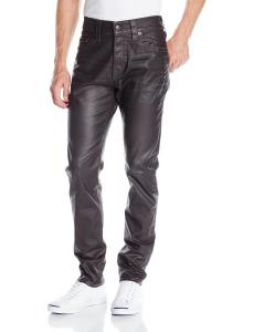 True Religion Men's Dean Tapered Leatherlike Pant In Black
