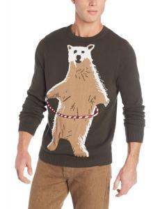 Alex Stevens Men's Polar Bear Hoopla Ugly Christmas Sweater