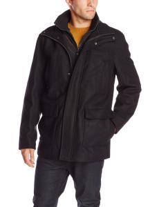Calvin Klein Men's Walking Coat with Bib