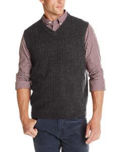 Dockers Men's Cable-Knit Sweater Vest