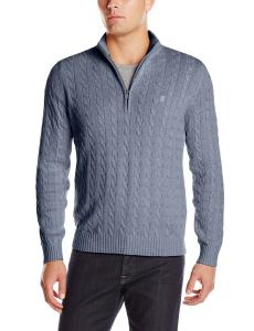 IZOD Men's Long Sleeve 1/4 Zip Stratton Cable Sweater