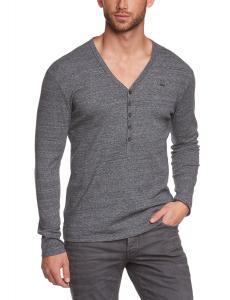 G-Star Raw Men's Dider Regular Granddad Longsleeve V-Neck T-Shirt