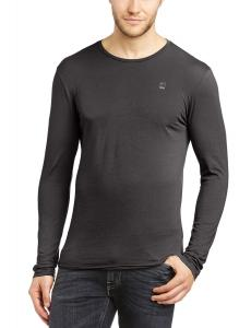 G-Star Raw Men's Mill Crew Neck Long Sleeve Tee In Light Compact Jersey