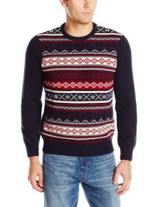 Dockers Men's Fair Isle Crew-Neck Sweater
