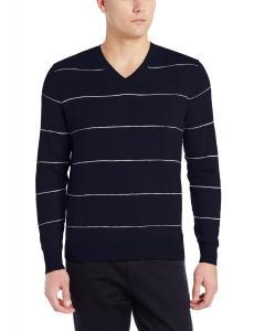 Dockers Men's Classic Striped V-Neck Sweater
