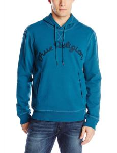 True Religion Men's Long Sleeve Fleece Hoodie