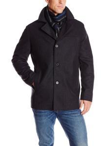 Perry Ellis Men's Tall Scarf Coat