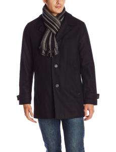 Calvin Klein Men's Car Coat with Scarf