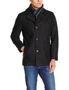 Perry Ellis Men's Scarf Coat