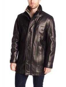 Marc New York by Andrew Marc Men's Sullivan Smooth Lamb Leather Car Coat