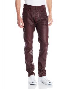 True Religion Men's Dean Tapered Leatherlike Pant In Merlot