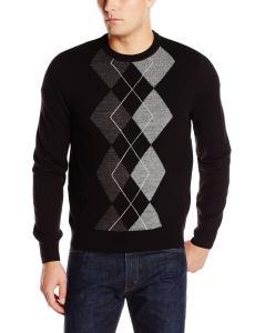 Dockers Men's Argyle-Center Crew-Neck Sweater