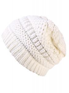 V28® Knit Beret Beanie Cap Slouchy Ski Snowboard Ribbed Hat