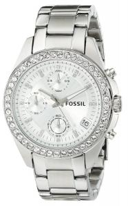 Fossil Women's ES2681 Decker Chronograph Stainless Steel Watch - Silver-Tone