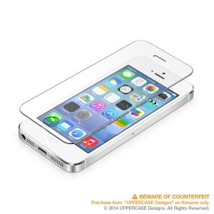 UPPERCASE Premium Tempered Glass Screen Protector for iPhone 5s, iPhone 5, iPhone 5c (iPhone 5s/5c/5)