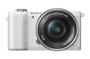 Sony Alpha a5000 Interchangeable Lens Camera with 16-50mm OSS Lens (White)