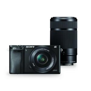Sony Alpha a6000 Interchangeable Lens Camera with 55-210mm and 16-50mm Power Zoom Lenses