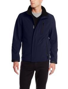 Calvin Klein Men's Softshell Jacket with Chest Pocket and Covered Zipper