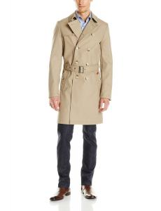 Ben Sherman Men's Double-Breasted Twill Trench Coat